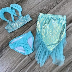 Cat and jack mermaid swim suit set